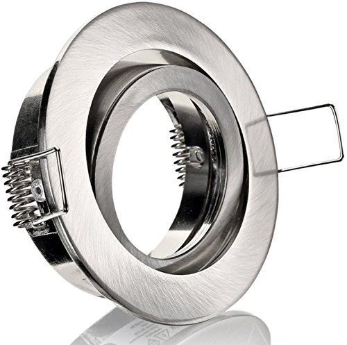 Spot Cadre de montage avec fermeture à clic – Aluminium moulé sous pression orientable – Diamètre extérieur : 82 mm – Diamètre d'encastrement : 68 mm.
