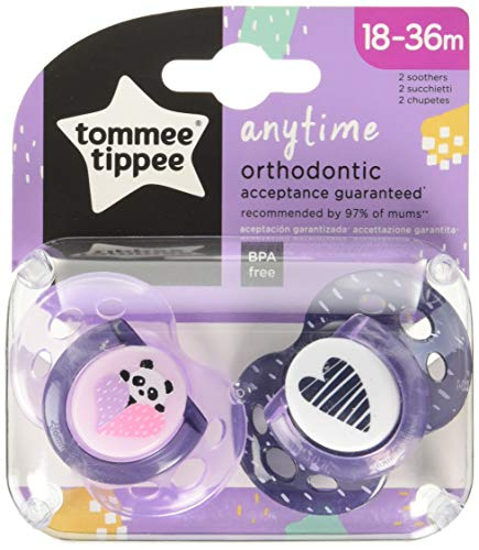 Tommee Tippee Chupetes. Modelo Any Time 2x 18-36 Surtido, color Multicolor
