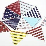 ULTNICE Bandera de la bandera multicolor Banderín del marinero Garland ancla del barco para la decoración del partido DIY