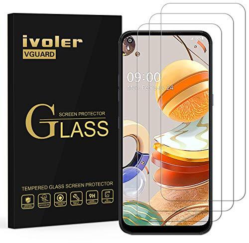 ivoler 3 Unidades Protector de Pantalla para LG K61, Cristal Vidrio Templado Premium para LG K61