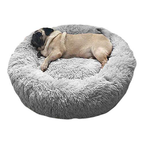 Haustierbett Hundebett Katzenbett Rund Weich und Weich für Haustiere/Welpen/Haustier/Katzenbett in Doughnut-Form (50cm #2)