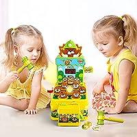 VATOS Acchiappa la Talpa,Mini-Giocattolo elettronico Arcade,Giocattolo Fornito di Monete e di 2 martelli Giocattolo,Gioco interattivo per i Bambini e Bambini di età Compresa tra 3-6 Anni #5