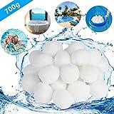 Isincer Filter Balls Alternative para 25 KG Filtro de Arena Bola de Filtro de Piscina, Bolas Filtrantes-700g