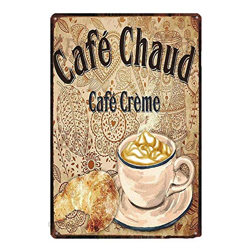 ivAZW Tin Sign Coffee Poster Vintage Metal Plate Kitchen Sign BBQ Wall Decor Cafe Bar Restaurant Home Wall Stickers 20x30cm DU-4853