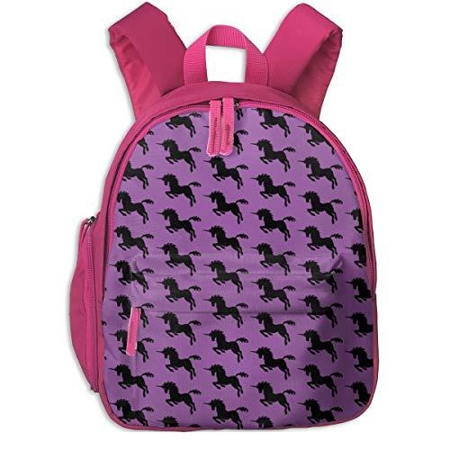Kinderrucksack mädchen,Lila Einhorn_2644 - ausreichend, Für Kinderschulen Oxford Tuch (pink)