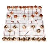 Larcele Holz Chinesisches Schach Traditionelle Brettspiel Xiangqi zum Kinder MZXQ-01 -