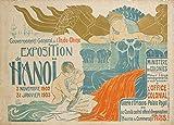 Vintage-Reiseposter Vietnam für die 1902 Hanoi Indo-China