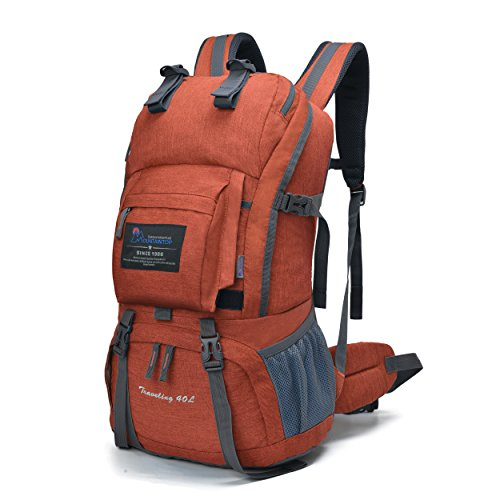 MOUNTAINTOP 40L Hiking Backpack with Rain Cover Water Resistant Mens Women Rucksack for Trekking,...
