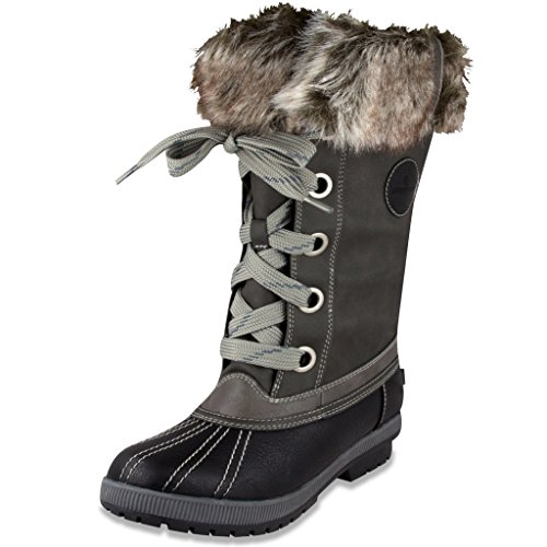 London Fog Women's Melton Snow Boot
