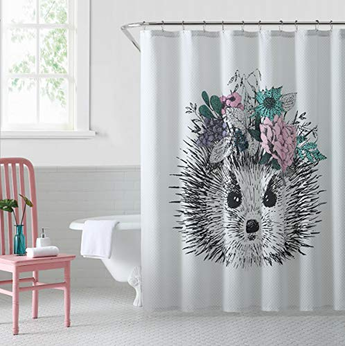 OH, HELLO, Hedgehog, 72x72 Shower Curtain