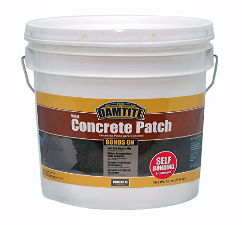 Damtite 04012 Gray Bonds-On Vinyl Concrete Patch, 12 lb. Pail