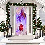 MACHINE BOY Etiqueta engomada de la Puerta extraíble Papel Tapiz de Bola de Cristal de Hielo púrpura para Dormitorio Sala de Estar Mural decoración del hogar Tamaño 90 * 200 cm