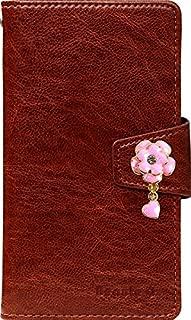 WILLCOM DIGNO DUAL 2 WX10K ケース 手帳型 手帳 オーダーメイド WILLCOM DIGNO DUAL 2 WX10K用 Flower&Heart Pink ブラウン(03) 【Beaute 正規品保証】