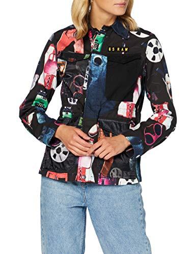 G-STAR RAW Damen Jacket Rovic Straight, Dk Black Objects C309-B527, Small