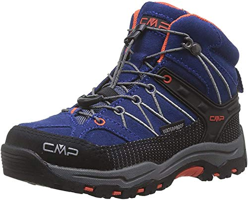CMP Unisex-Kinder Kids Rigel Mid Shoe Wp Trekking- & Wanderstiefel, Blau (Marine-Tango 05md), 33 EU