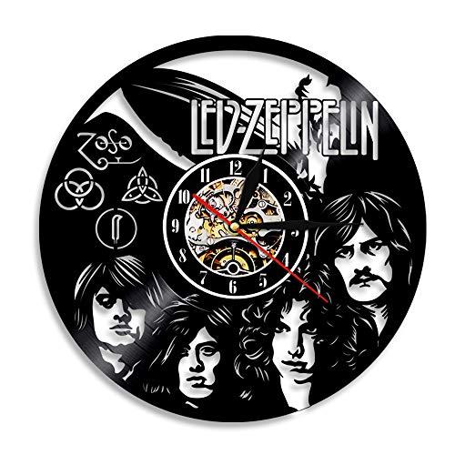 YUN Clock@ Disco in Vinile Orologio da Parete Famiglia Muro creatività 3D Zeppelin Decorazione Orologio Vintage Arte Design Gift/Diametro 30 [Classe di efficienza energetica A]