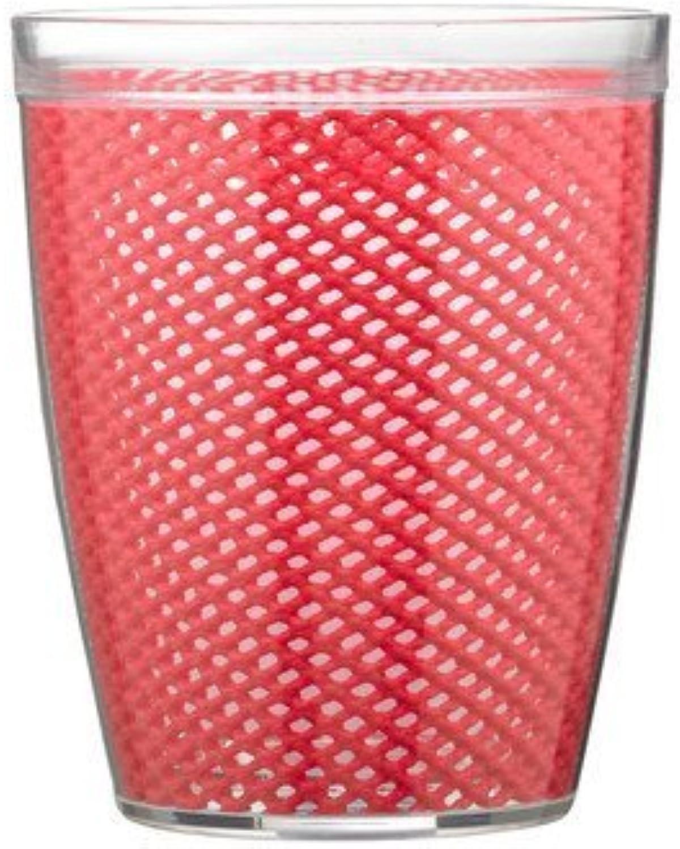14 Oz. Fishnet Drinkware in rojo - Set of 4 by Kraftware