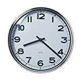 Ikea Pugg - Wall clock in chrome-plated stainless steel