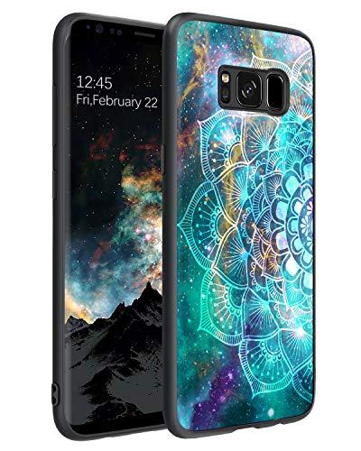 BENTOBEN Funda Samsung S8, Carcasa Samsung Galaxy S8 Cover Ultra Delgada Mandala Luminosa Resistente Silicona Suave PC Dura Protectora Completa Antigolpes Fundas para Samsung Galaxy S8-Mandala