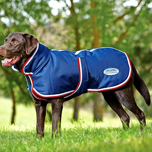 Weatherbeeta Deluxe Parka 1200D Dog Jacket 60cm Navy/Red/White
