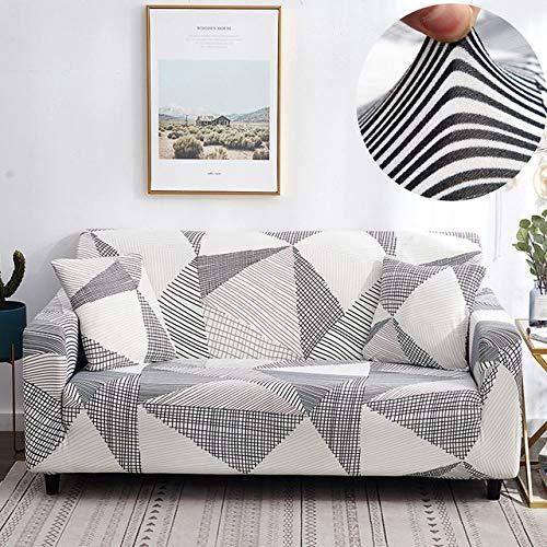 WEDZB Sofa hoes,ElastischeStretch Sofa Cover KussenovertrekkenAll-inclusive banketui voor fauteuil met verschillende vormen L-stijl, kleur 10,4, zit 235,300 cm