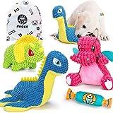 AWOOF 4pcs Juguetes para Perros, Juguete para Perros de Peluche con Sonido, Juguete masticables duraderos para Limpieza de los Dientes, para Perros pequeños y medianos