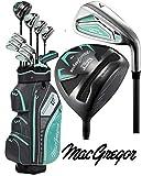 MACGREGOR DCT3000 Ladies Golf Package Set & Golf Club Cart Bag Juego de Palos, Mujer, Negro/Aqua