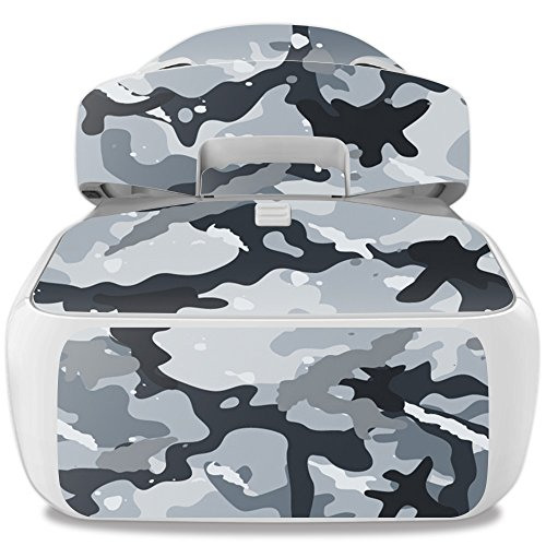 MightySkins Skin Compatible with DJI Goggles – Gray Camouflage | Protective, Durable, and Unique Vinyl Decal wrap Cover | Easy to Apply, Remove, and Change Styles | Made in The USA