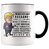 YouNique Designs 17 Year Anniversary Coffee Mug for Him, 11 Ounces, Trump Mug, 17th Wedding Anniversary Cup For Husband