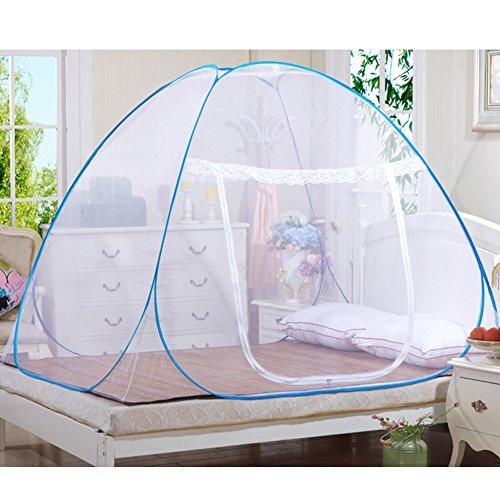 Moustiquaires en plein air Mongol Yurt Dôme Net Installation gratuite et pliage de filets Prévenir insectes Pop Up Tente Rideaux pour les lits Chambre (180 * 200 * 150cm)