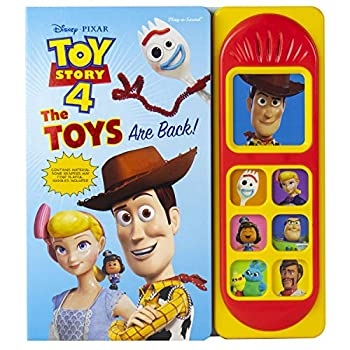 Disney Pixar Toy Story 4 Woody Buzz Lightyear Bo Peep and More! - The Toys are Back! Sound Book - PI Kids  Play-A-Sound