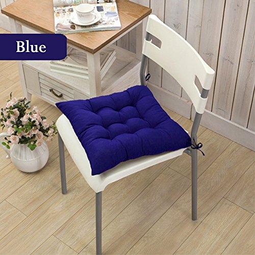 Home Living Galette de chaise carrée de décoration de chambre doux en peluche Coussin Galette de Chaise, 40 x 40 cm