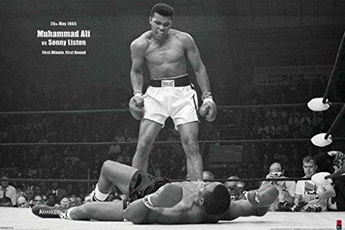 Pyramid America Muhammad Ali vs Sonny Liston First Round KO Boxing Sports Sports Cool Wall Decor Art Print Poster 36x24
