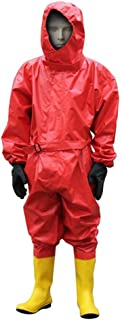 MOPP Abbigliamento Protettivo Chimico con Cappuccio Tuta Anti-Virus per Isolamento Anti-Virus Size : M