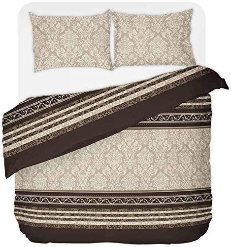 Schlummerglück Original Bettwäsche mit zeitlos modischen Motiven, Qualitätsware zum attraktiven Preis, 100% Baumwolle, Verschiedene Modelle und Qualitäten verfügbar (Rococo 135/200)