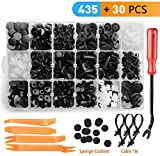 AIRKOUL 465 PCS Car Retainer Clips Plastic Rivets Fasteners Bumper Clips Kit - 19 Most Popular Sizes Auto Plastic Push Rivets - Door Panel Clips for GM Toyota Honda Ford Chrysler Nissan
