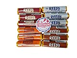 Reed's Candy Rolls Assortment - Cinnamon Root Beer Butterscotch Peppermint 3 Rolls of Each Flavor with Refrigerator Magnet