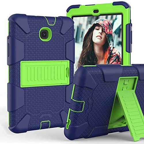 Galaxy Tab A 8.0 Case 2018, Dteck Hybrid Shockproof Case Armor Kickstand Defender [Kids Friendly] Rugged Full Body Protective Cover for Samsung Galaxy Tab A 8.0 Tablet SM-T387, Navy Green