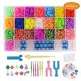 FORMIZON Loom Bands, 4400 Kit Completo, 22 Colores, Kit de Crea de Brazaletes y...