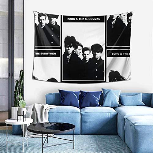 Echo & The Bunnymen - Tapiz para colgar en la pared, decoración del hogar, para sala de estar, dormitorio, 156 x 100 cm
