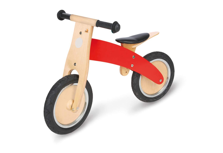 Pinolino 239449 - Bicicleta de madera para niños, color rojo [Importado de Alemania]: Amazon.es: Juguetes y juegos