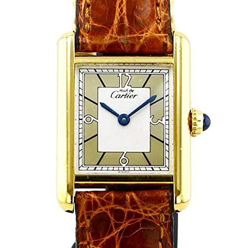 カルティエ Cartier ヴェルメイユ マストタンク 1613 ゴールド文字盤 中古 腕時計 レディース (W178584) [並行輸入品]