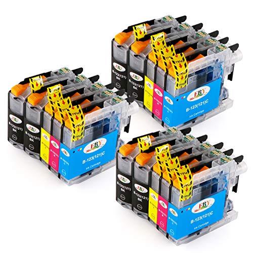 EBY Ersatz für LC123 LC-123 Druckerpatronen kompatibel für MFC-J480DW DCP-J562DW MFC-J4420DW DCP-J4120DW MFC-J5320DW J880DW J680DW J4620DW J4625DW (6 Schwarz, 3 Cyan, 3 Magenta, 3 Gelb)