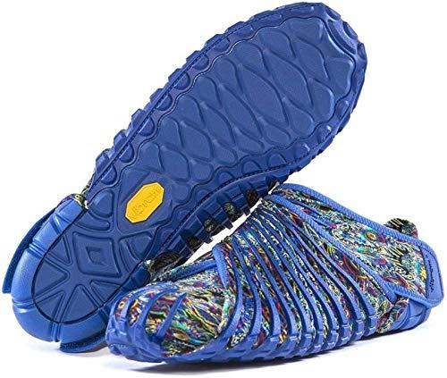 YLLYI Zapatos Envueltos En Zapatos De Cinco Dedos, Zapatos Envueltos Vibram Furoshiki, Zapatos para Correr Ultraligeros para Cinco Dedos, Zapatos Deportivos Portátiles Plegables,Azul,S