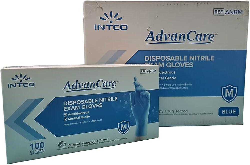 AdvanCare Disposable Nitrile Exam Max 83% OFF ANBM10015 Free NEW Powder Gloves