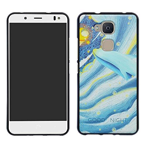 HHDY BQ Aquaris VS Plus Hülle, Painted Muster Weich Superdünne TPU Silikon Handyhülle Hülle Cover für BQ Aquaris VS Plus/Aquaris V Plus,Whale