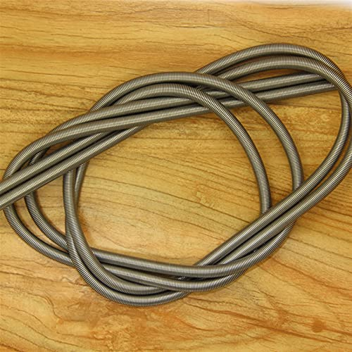 Rmage Myouzhen-Compressed Spring 2PCS Stainless Steel Super Long Tension Spring Extension Spring Wire Diameter 0.2mm Out Diameter 2mm Length 1000mm, Long Service Life (Length : 0.2X2X1000mm)