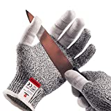 NoCry Cut Resistant Kitchen and Work Safety Gloves with Reinforced Fingers and Level 5 Protection; Ambidextrous, Machine Washable, and Food Safe. Extra Large