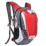 LOCAL LION Fahrradrucksack Trinkrucksack Reiserucksack Sportrucksack Tagesrucksack Alltags Daypacks Backpack Outdoor Ultraleicht Unisex 18L rot