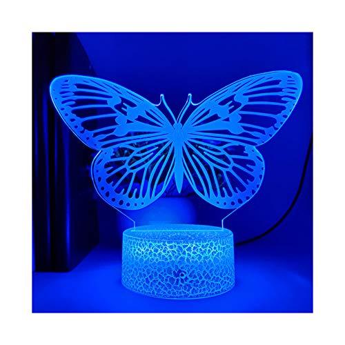 HOKVJ Lámpara De Mesa con Base 3D Papilio Machaon, Luz Nocturna para...